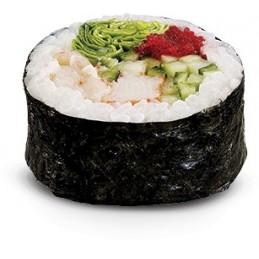 Futomaki, thon cuit, radis mariné, omellette japonaise, concombre, 5p