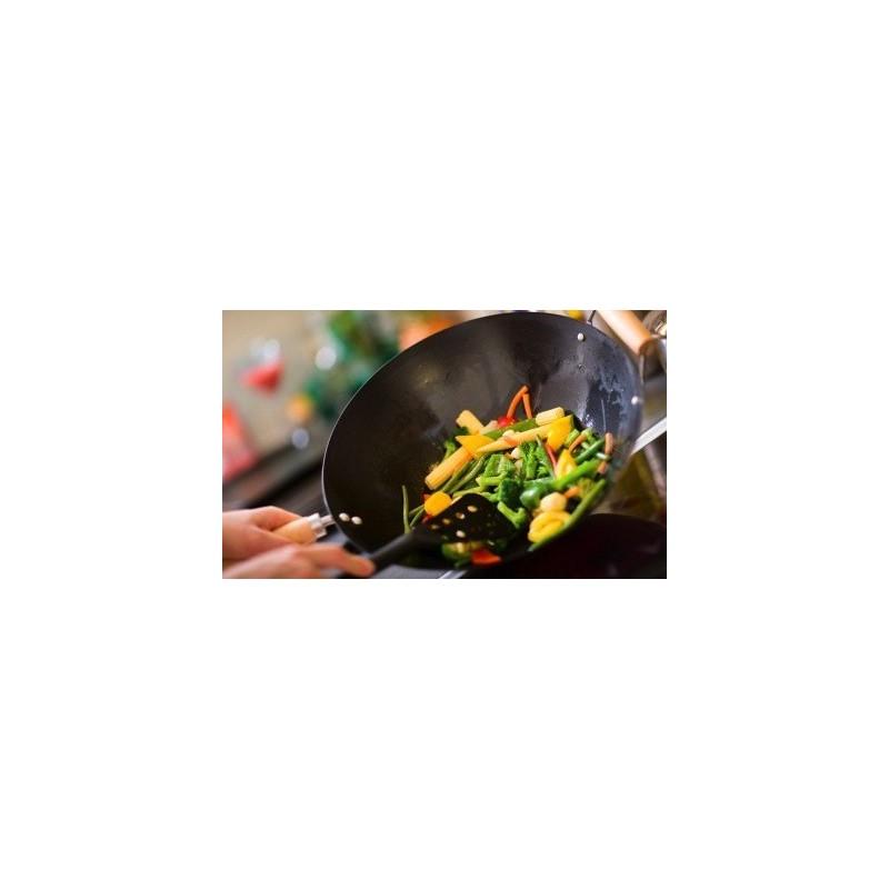 Légumes sautés au wok - Riz blanc