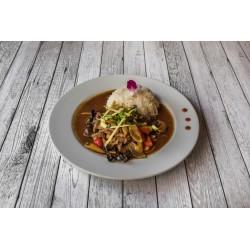 Emincé de poulet sauté au basilic thaï