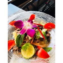 Salade de bœuf grillé (aiguillette de boeuf )  et Riz blanc