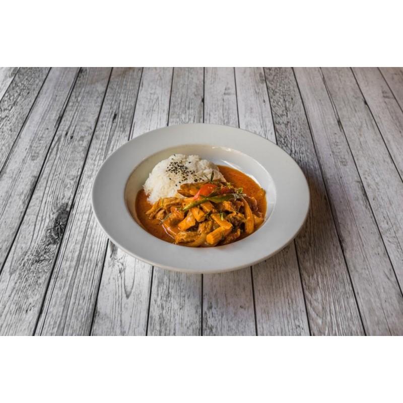 Emincé de canard au curry paneng