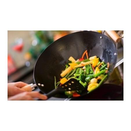 Légumes au curry rouge - riz blanc