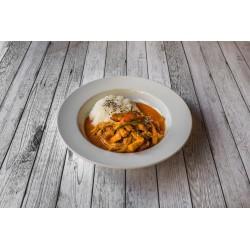 Emincé de porc au curry paneng