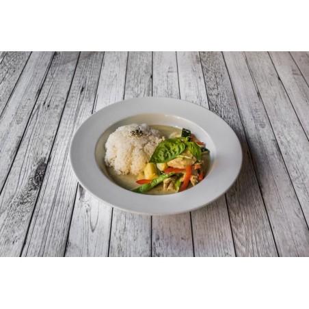 Emincé de poulet au curry vert