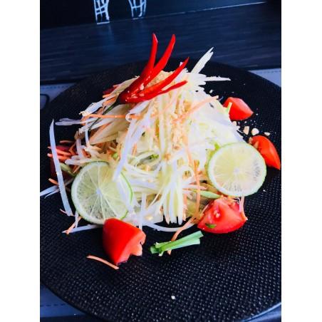 Salade de papaye verte ( légumes thai) et crevettes