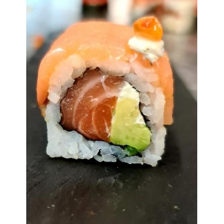 Make-Up Roll  saumon fumé - saumon frais* 6 pc