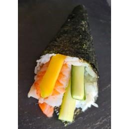 Temaki saumon, mangue ,...