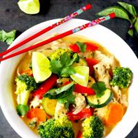 plats végétarien thailandais